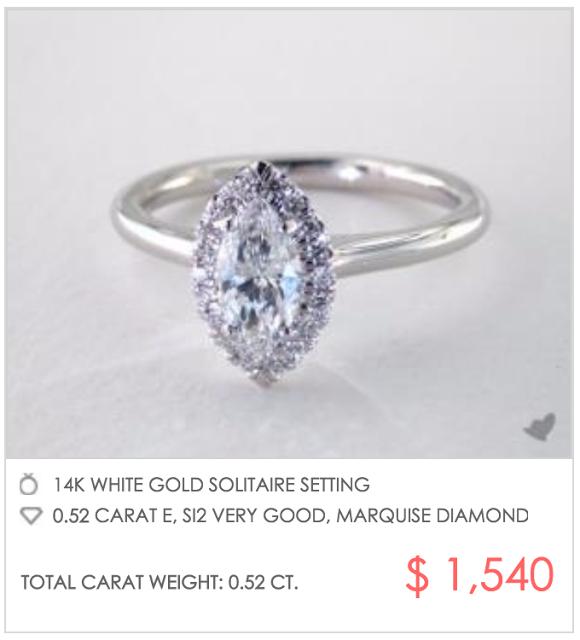 marquise halo under $2000