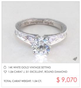 Tinder Proposal with Vintage Engagement Ring | Engagement Ring Voyeur