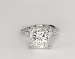 5 Carat Princess Pave Engagement Ring - $46,256 | Engagement Ring Voyeur