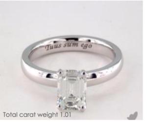 James Allen Engraving of the Week | Engagement Ring Voyeur