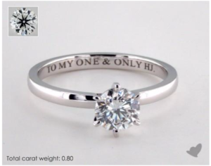 Comfort Fit Six-Prong Solitaire Tiffany Setting   Engagement Ring Voyeur