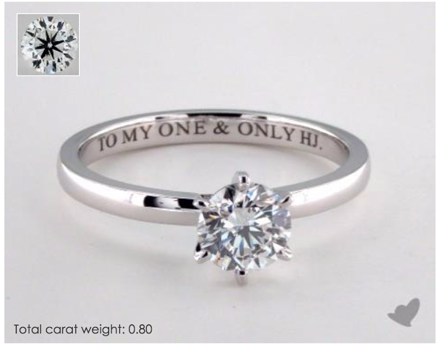 Classic six-prong comfort fit engagement ring