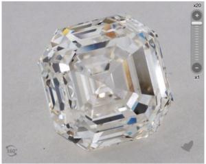 A 3.54 Carat Asscher Diamond, Plus a Bonus! | Engagement Ring Voyeur
