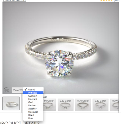customize a pave setting on James Allen