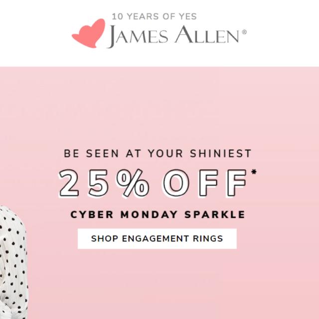 James Allen Cyber Monday Sale