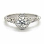 Vintage Style Diamond Engagement Ring Under $5000