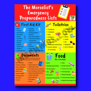A screenshot product image for The Morselist's Emergency Preparedness Lists.