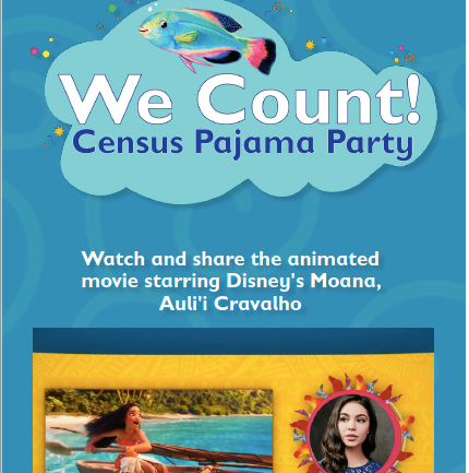 WE COUNT! is providing three programs to support your Census work in the next weeks