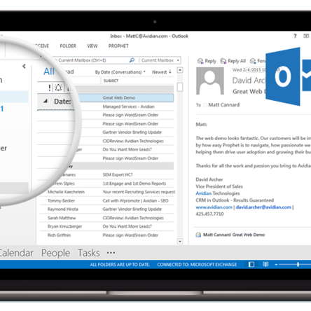 Outlook embedded CRM