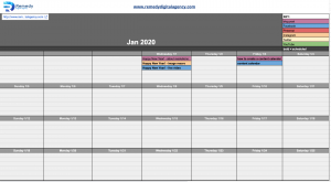 Remedy Digital Agency free content calendar template image