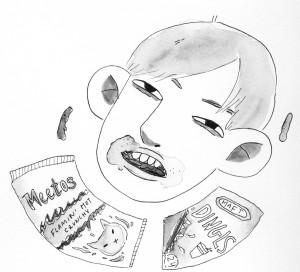 UPFRONT Francesca Hodge junk food