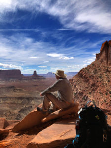 Contemplating the universe, while staying at Entrada, Moab
