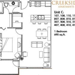 Creekside Apartments Floor Plans