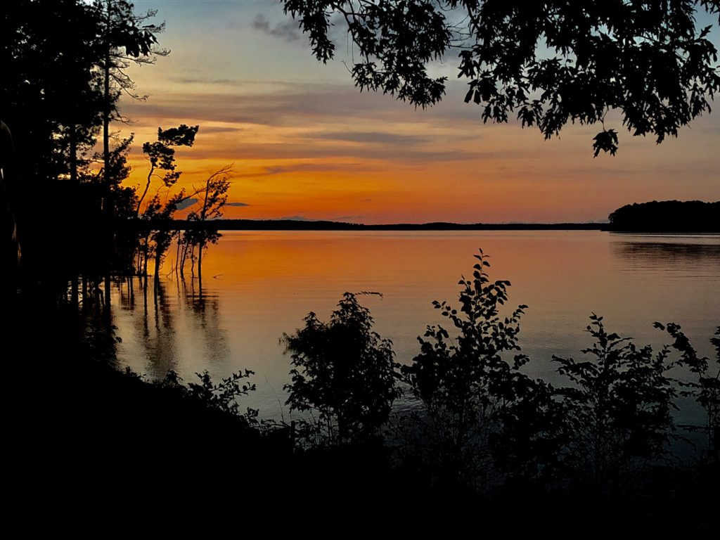 County Line Campground at Kerr Lake sunset photo by Stephen Davey