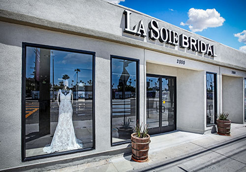 Wedding gown storefront