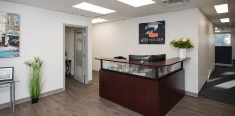 Zhivov Law history - image of a welcoming law office reception