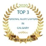 ThreeBestRated seal of approval for top 3 personal injury lawyers in Calgary
