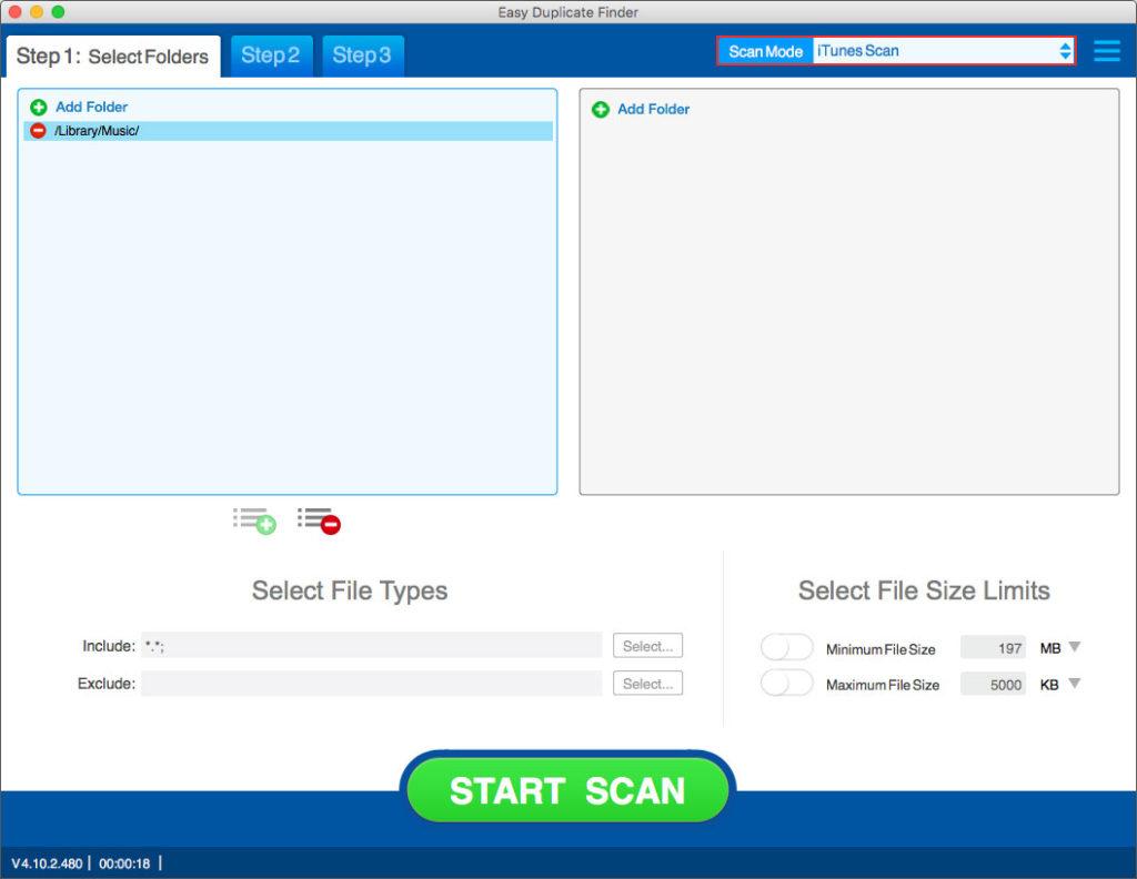 best iTunes duplicate remover-EDF choose itunesscan