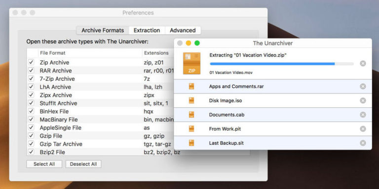 best mac apps - The Unarchiver