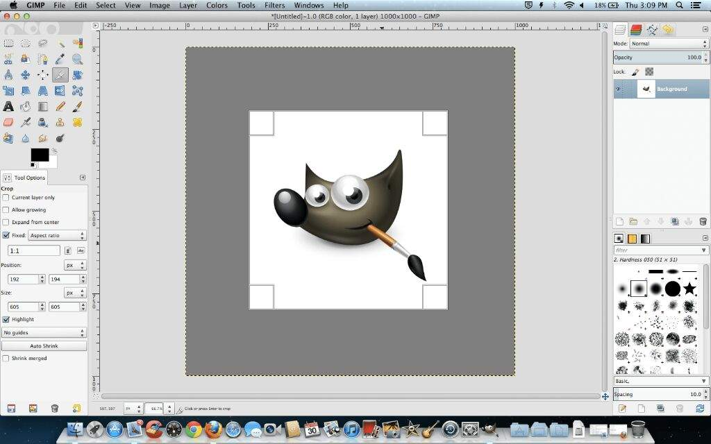 GIMP photo editing app scr