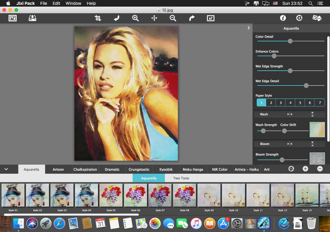 JixiPix Impresso Pro photo editor for Mac scr