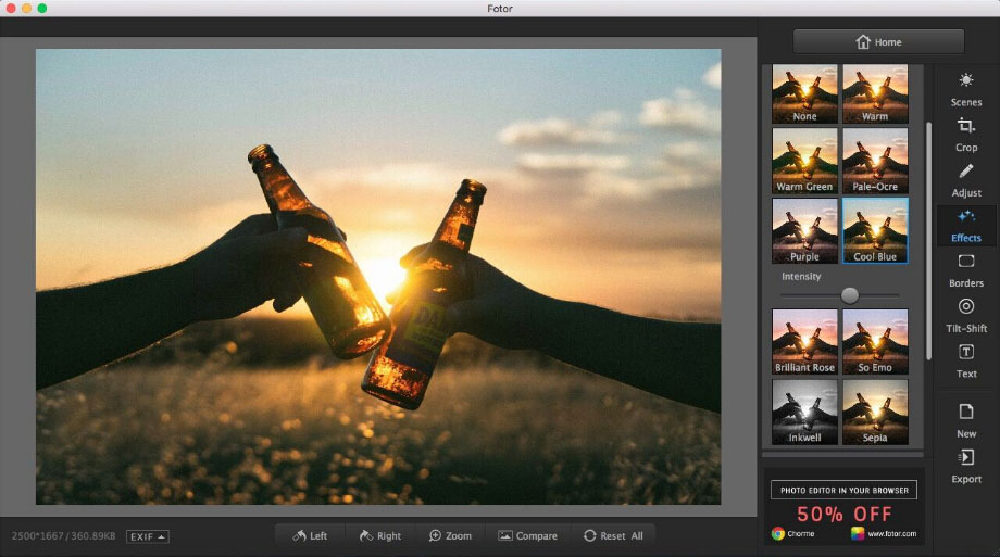 Fotor Photo Editor app for Mac scr