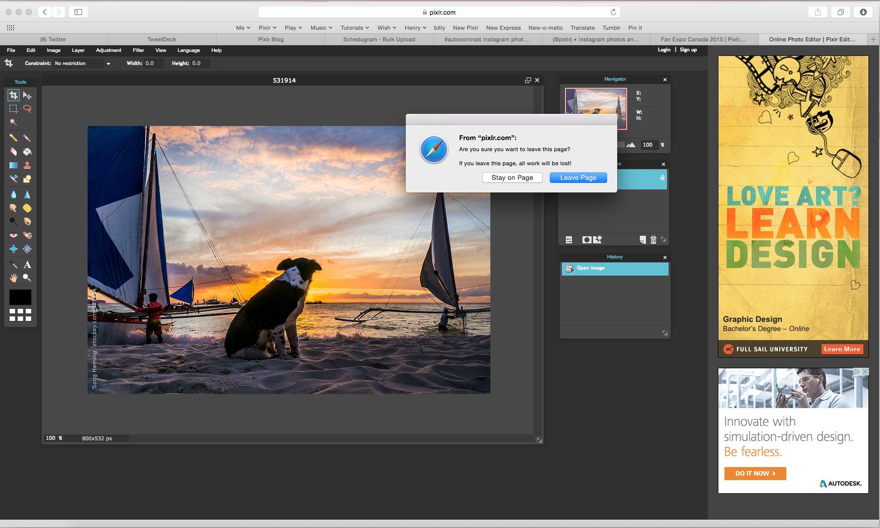Pixlr photo editor for Mac scr