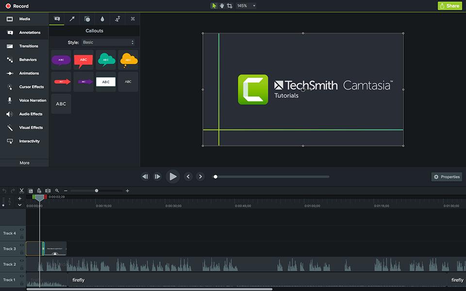 TechSmith Camtasia screenshot