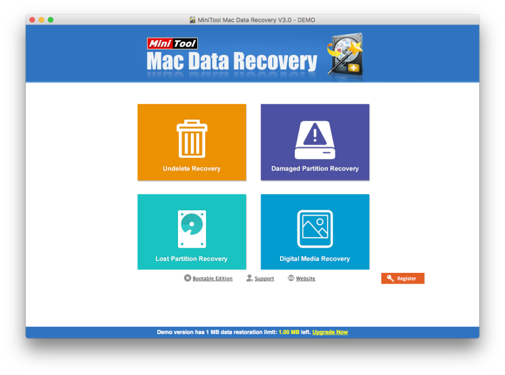 best mac data recovery software - Minitool data recovery for Mac