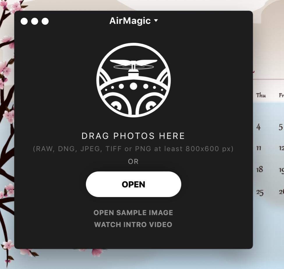 skylum airmagic interface