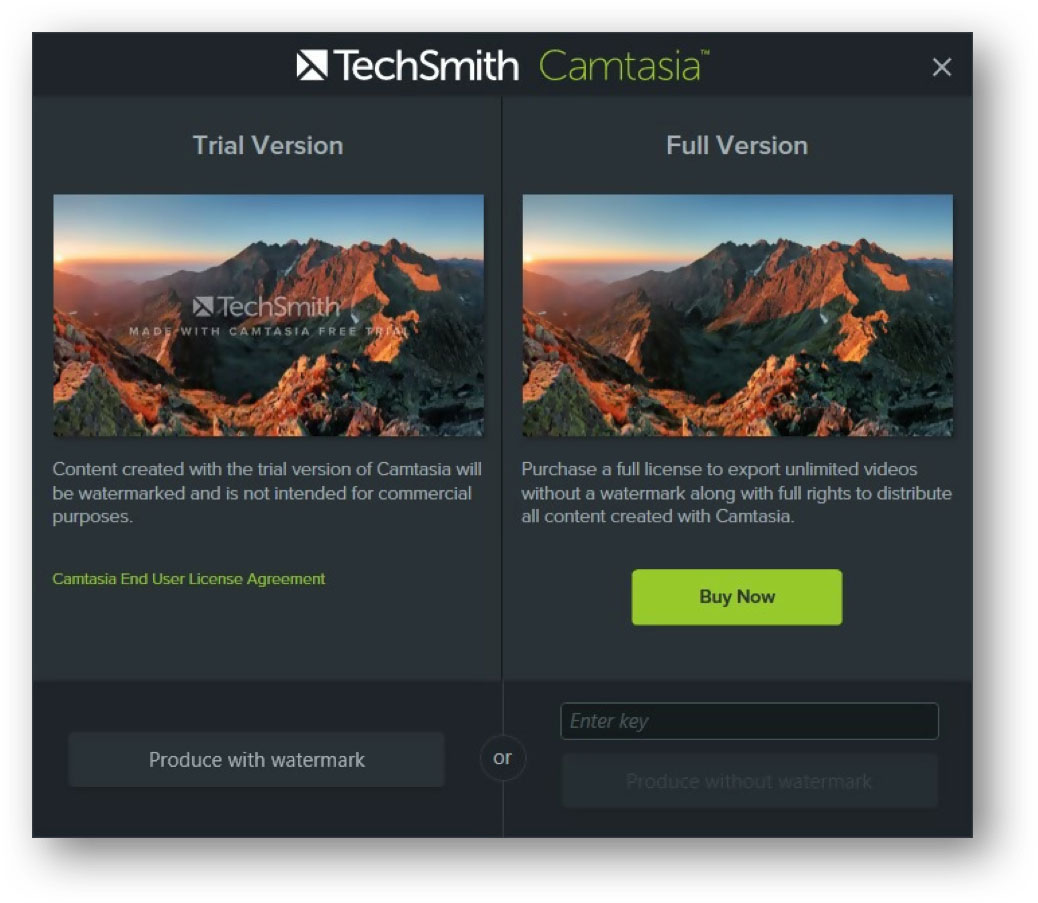camtasia review - trial watermark