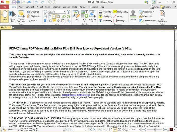 PDF-XChange Editor edit scr