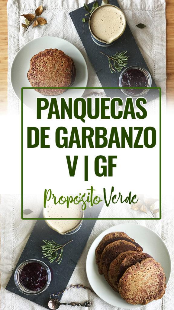 panquecas de garbanzo, veganas y libres de gluten