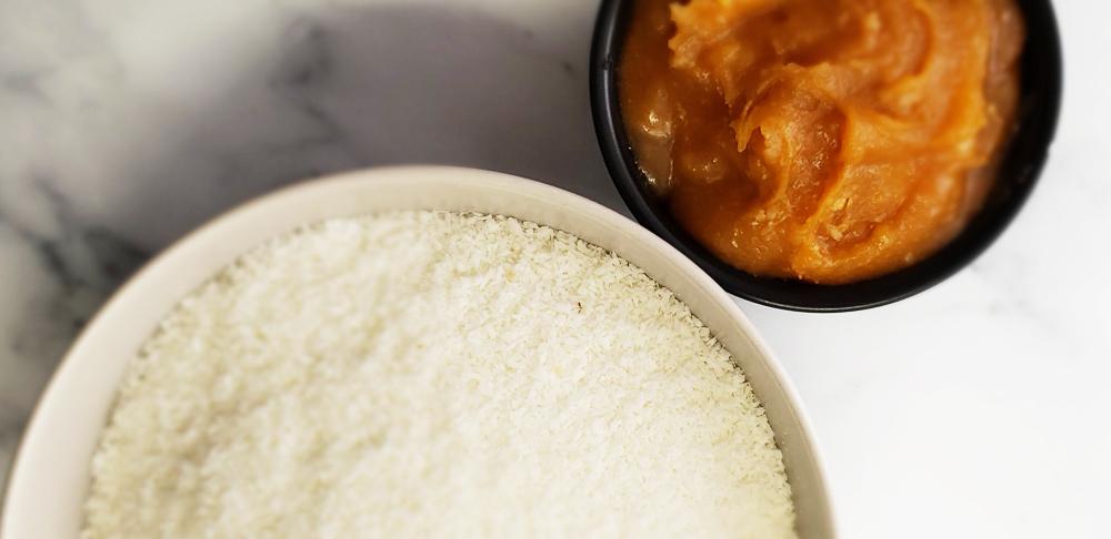 coco rallado y leche condensada de coco