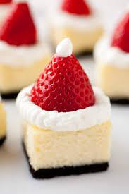 Easy Dessert Recipe Strawberry Santa Cheesecakes