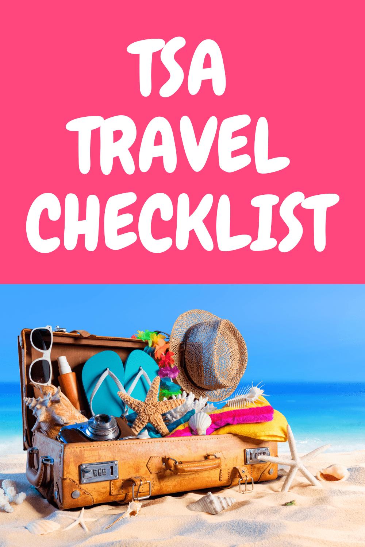 TSA travel checklist