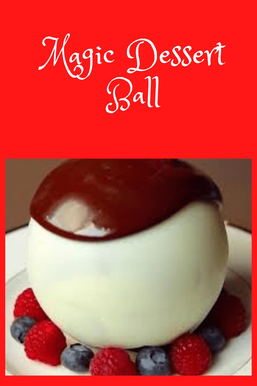 Melting chocolate ball