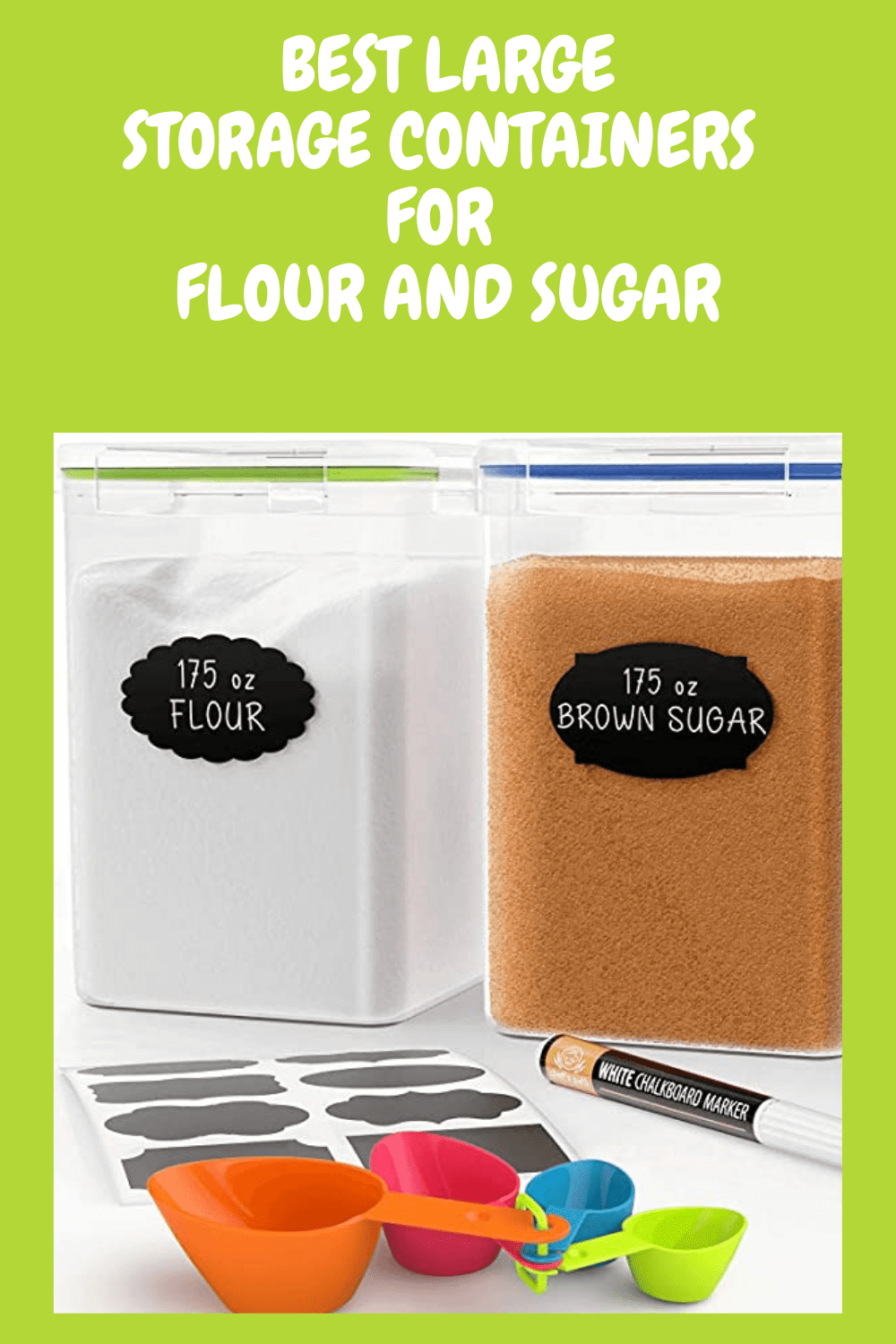 Flour and sugar storage containers