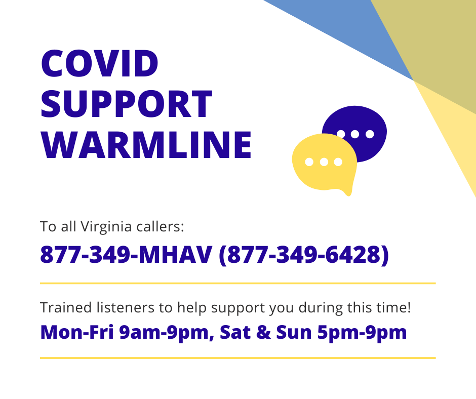 COVID Support Warm Line