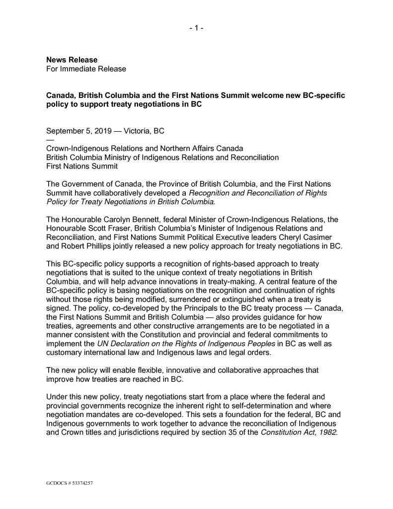 thumbnail of BC POLICY – NEWS RELEASE – September 05 2019 FINAL w attach