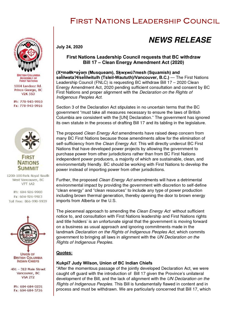 thumbnail of FNLC PR re Bill 17 (Final)