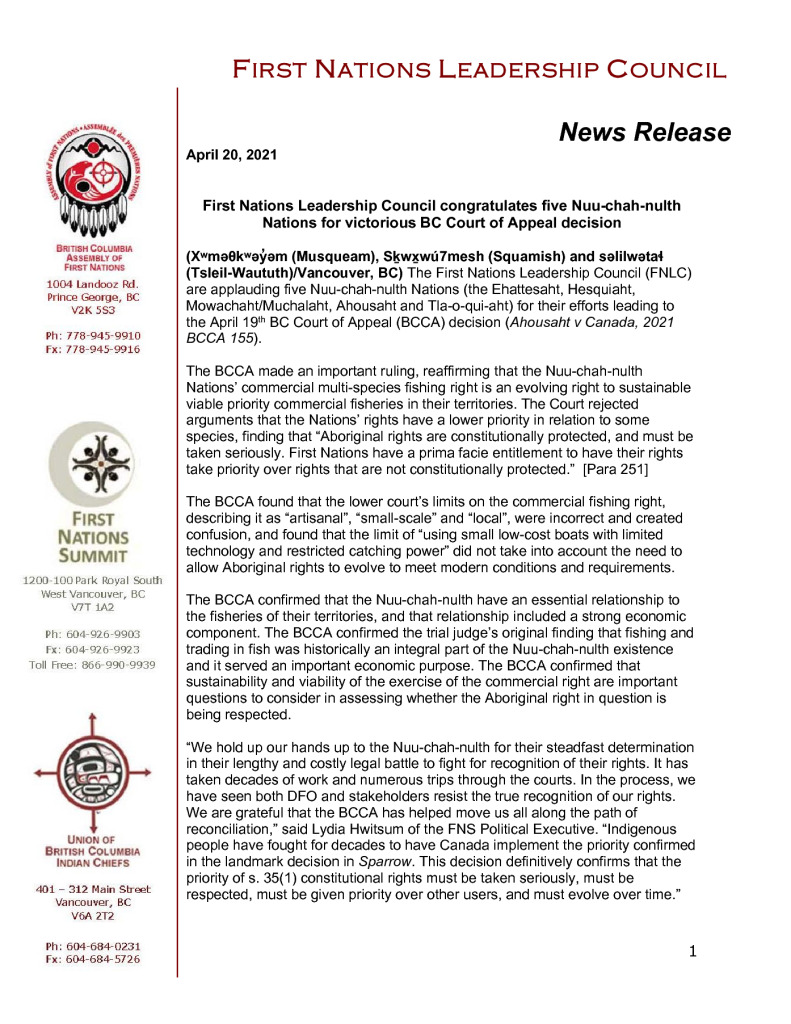 thumbnail of 04-20-2021-FNLC release re BCCA decision in Ahousaht FINAL