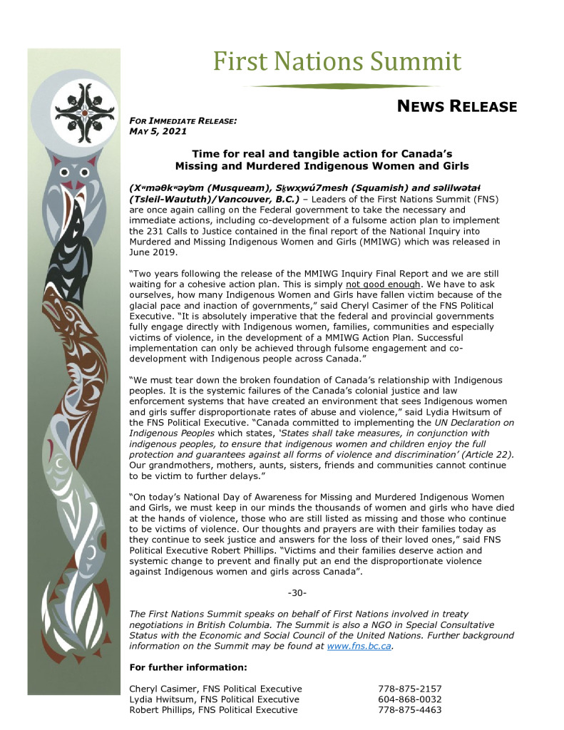 thumbnail of FNS PR re MMIWG Day of Rememberance May 5 2021 FINAL
