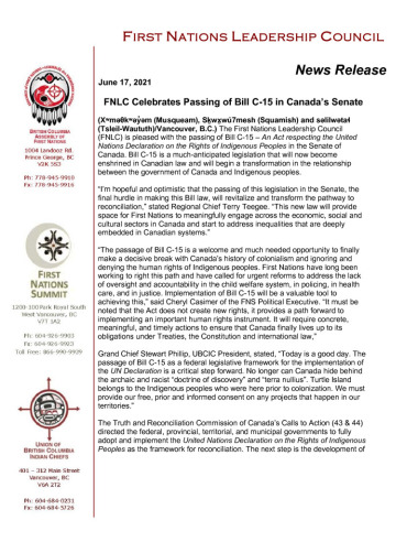 thumbnail of 2021.06.17_FNLC PR draft Bill C-15 passed