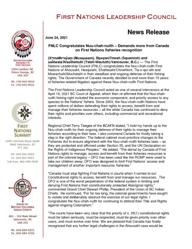 thumbnail of 2021.06.24_FNLC statement on support for Nuuchanulth fishing rights