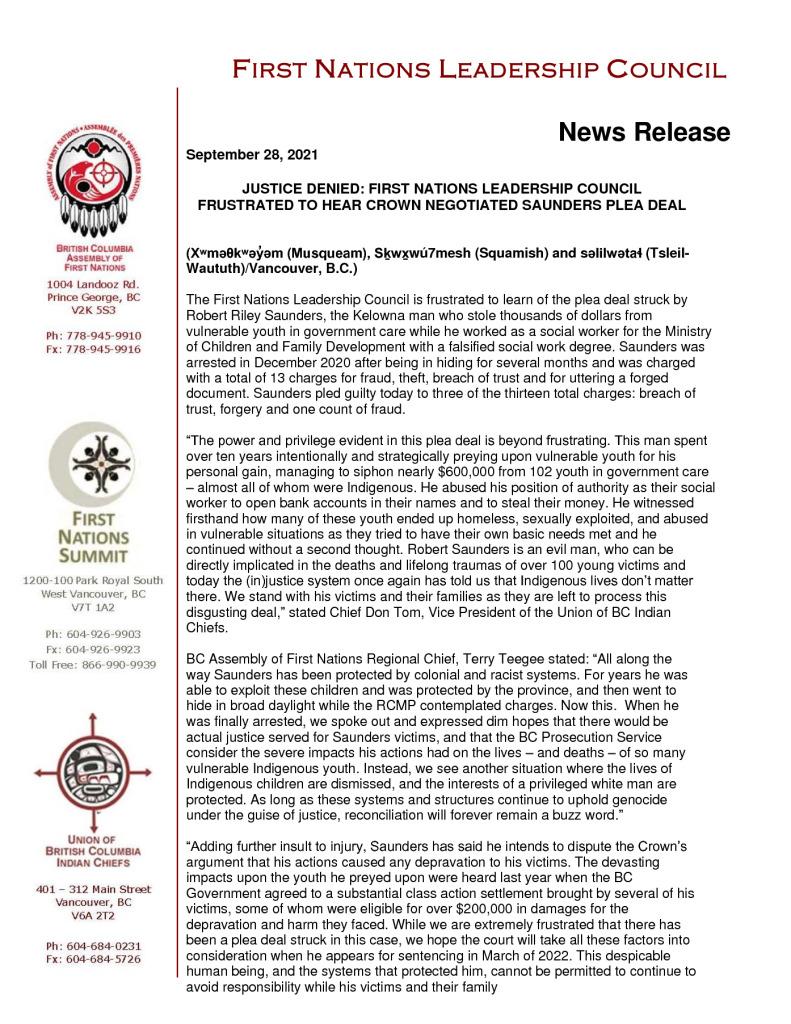 thumbnail of 2021Sep28_FNLC Statement on Saunders Plea
