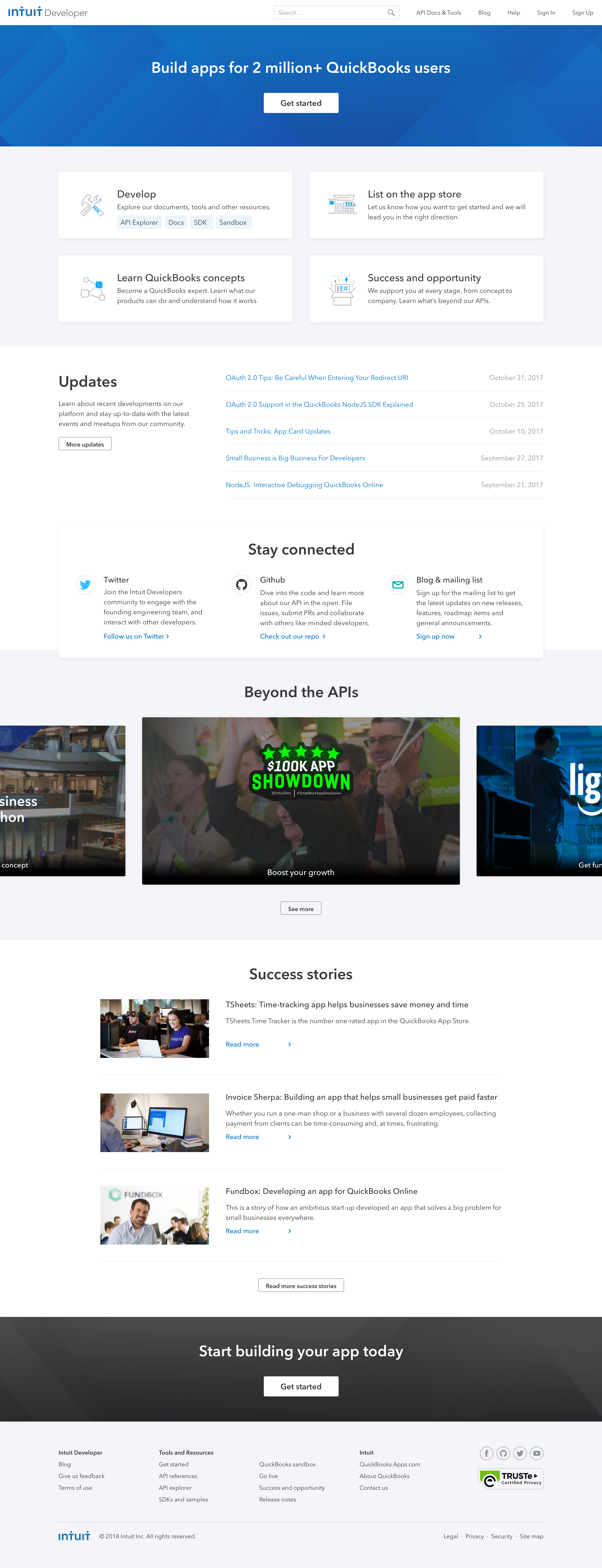 New home page website