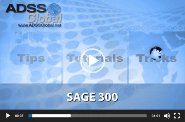 Sage 300 Video Training Thumbnail