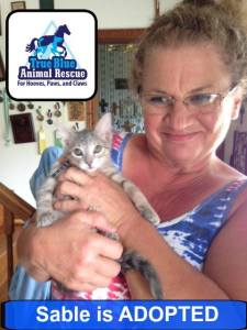 Success Story Sable True Blue Animal Rescue