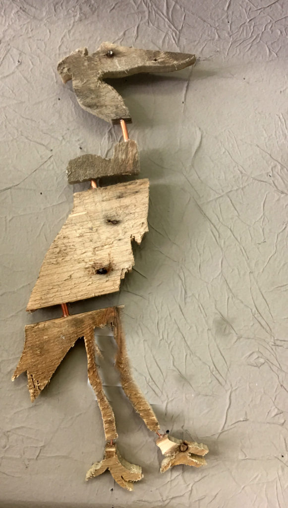 Recycled wood and copper
